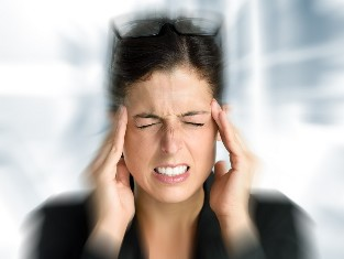 Dizziness and headaches often bothered when cervical osteocondrose